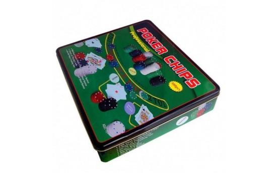 Покерный набор на 500 фишек с номиналом + сукно